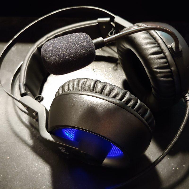 Wind sock on the MPOW EG3 headset microphone